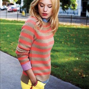 Boden Stitch Jumper Striped Cotton Sweater 10